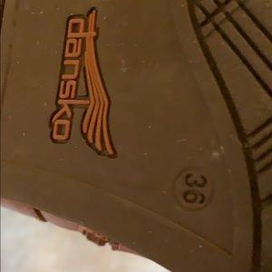 Dansko Shoes - Dansko brown leather upper lining boots